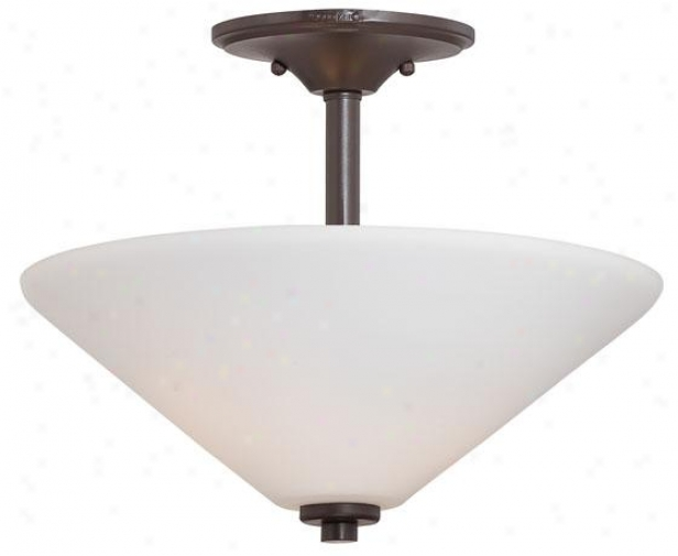 Priscilla Semi-flush Mount - 2-light, Western Alloy of copper
