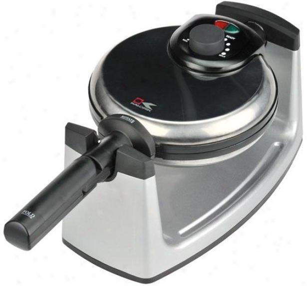 Pro Waffle Maker - 6.5hx14wx6.33d, Black/stainless