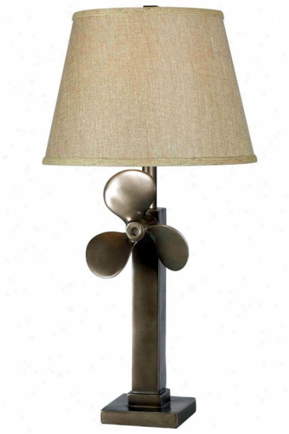 """prlp Table Lamp - 30""""h X 15""""w, Weathered Steel"""