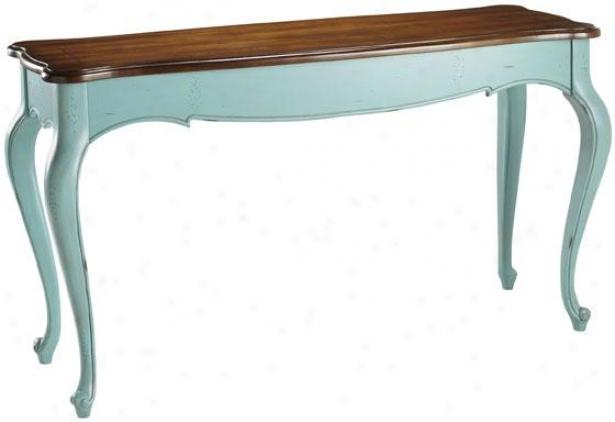 """""""provence Sofa Console Table - 31""""""""hx54""""""""w, Bluue/chstnt Crop"""""""