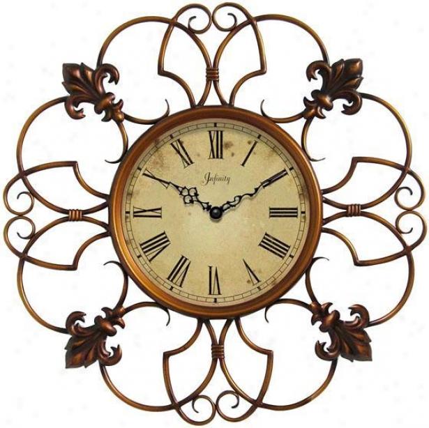 """province Wall Clock - 24""""d, Alloy of copper """