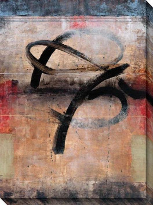 Proximity Ii Canvas Wall Art - Il, Black