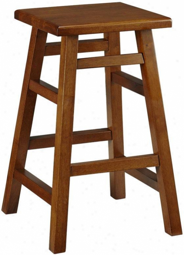 """pub Counter Stool - 24""""h, Brown Wood"""
