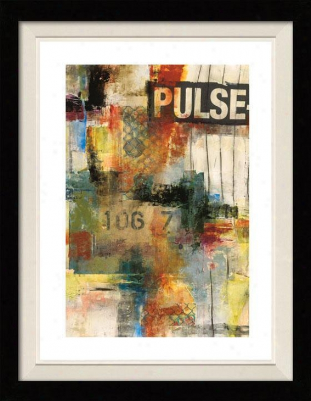 Pulse I Framed Wall Art - I, Floated Blaack