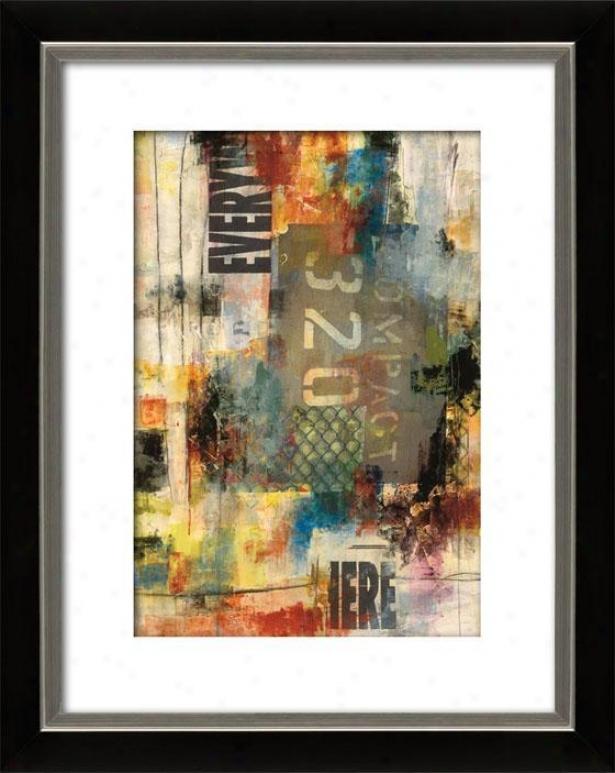 Pulse Ii Framed Wall Art - Ii, Mttd Black/slvr