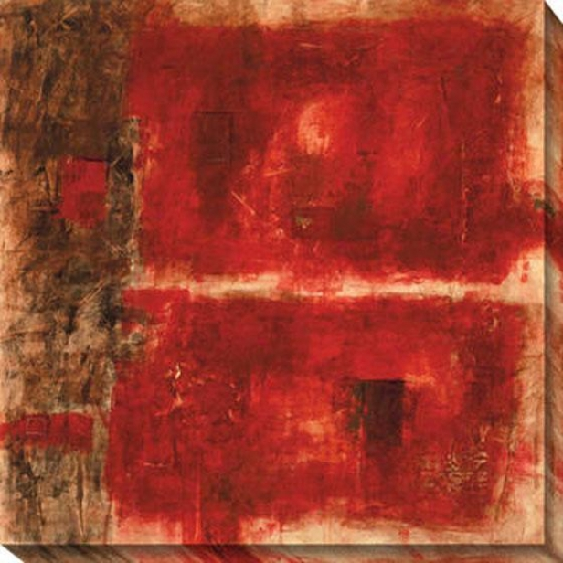 Property Control Red I Canvas Wall Art - I, Red