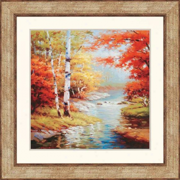 """quiet Stream Wall Art - 39""""squarex2""""d, Multi"""