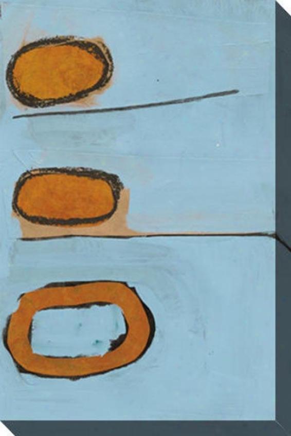 Quite Abstravt V Canvas Wall Art - V, Livid
