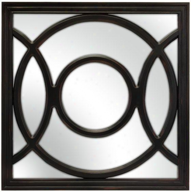"""radius Mirror - 24""""sq, Black"""