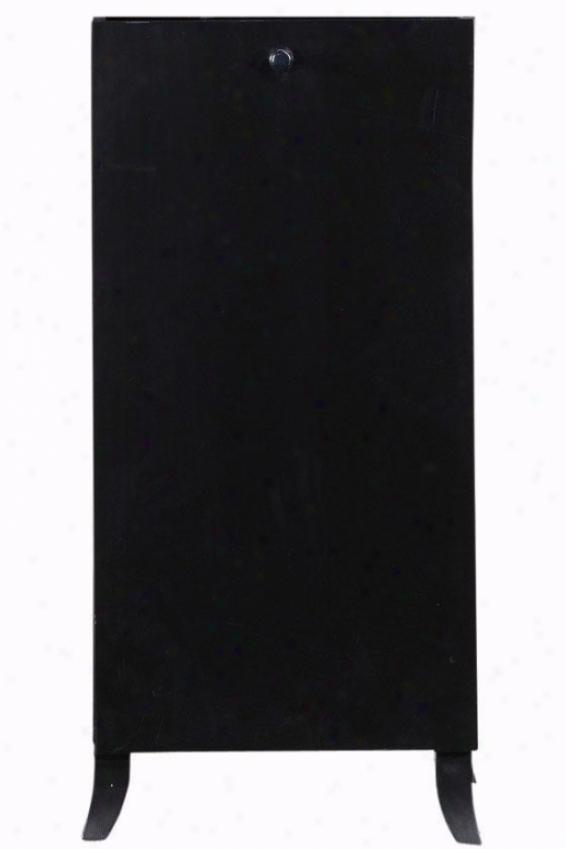 Randall 1-door Storage Tower - 2-shelf, 1-door, Black