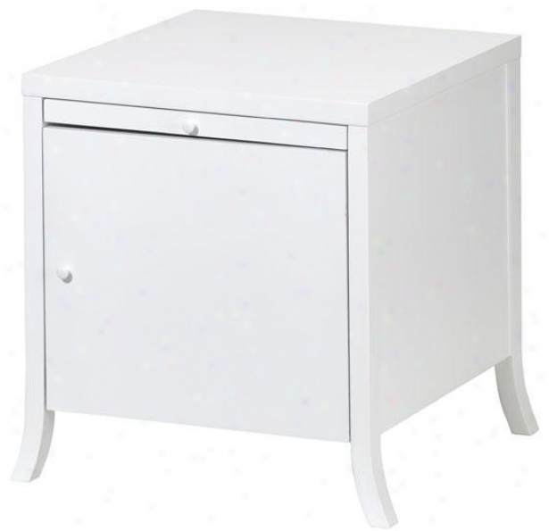 """randall Side End Table With Passage - 21""""w, White"""