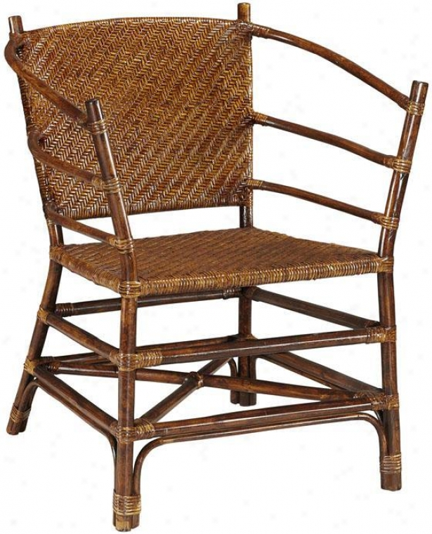 """rattan Accent Chair - 35""""hx26""""w, Brown"""