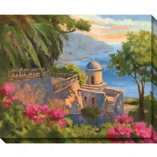Ravello I Canvas Wall Art - I, Green