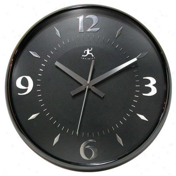 """""""raven Wall Clock - 15""""""""hx15""""""""w, Black Pearl"""""""