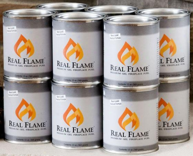 """real Flame Gel Fuel - 4"""", 12 Pack"""