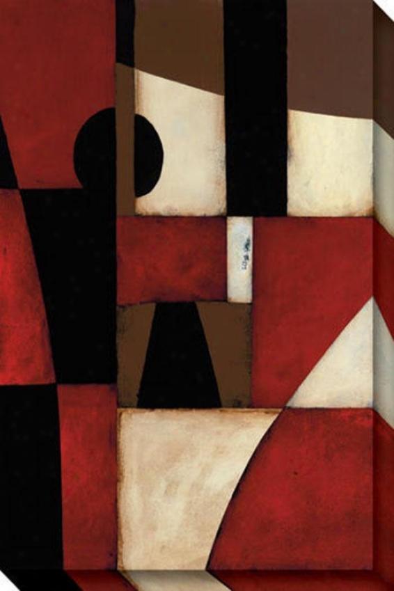 Reclamation Ii Canvas Wall Art - Ii, Red