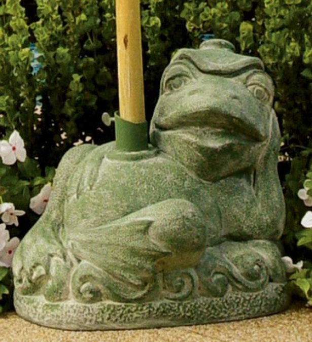 Resting Frog Umbrella Stand - 15hx13wx15d, Orchard Green