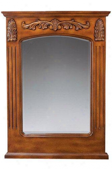 """rectangular Decorative Single Mirror - 26""""w, Oak"""