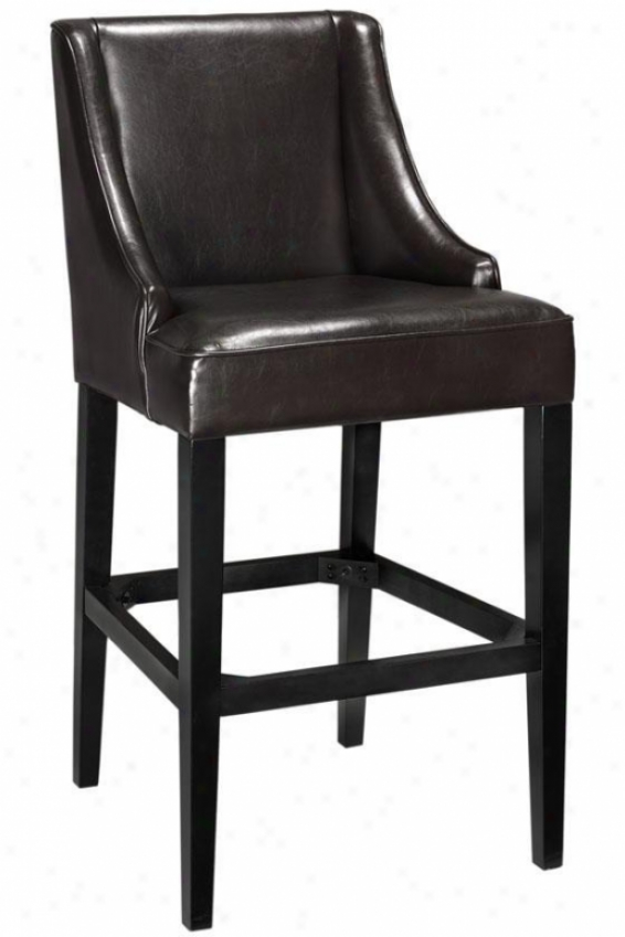 """recycled Leather Bar Stool - 44""""hx22""""w, Brown"""