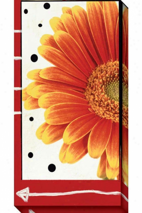 Red And White Flower I Canvas Wall Art - I, Red