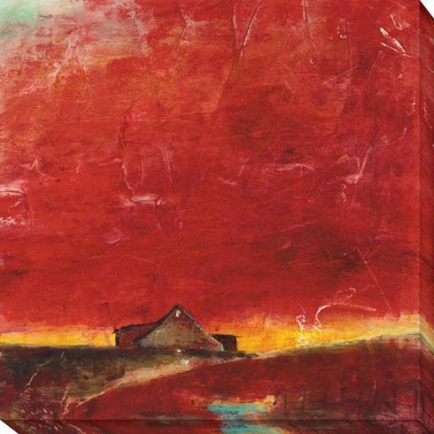"""rwd Barn Canvas Wall Art - 40""""hx40""""w, Red"""