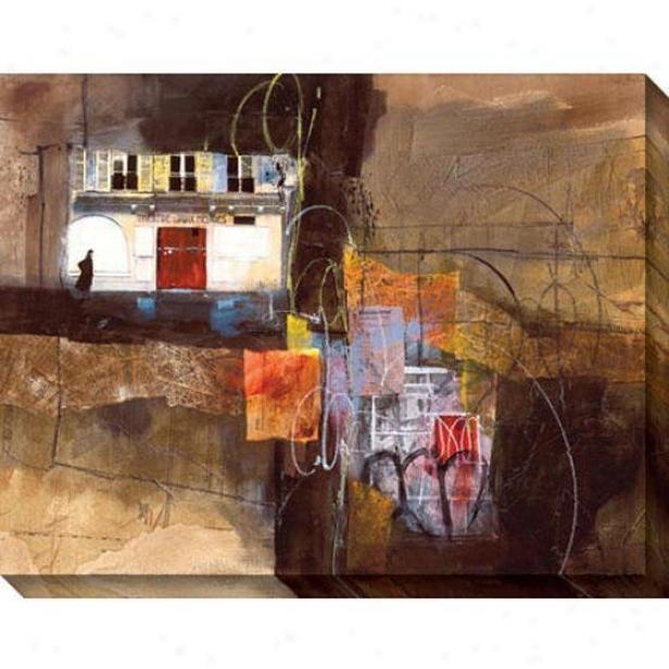 """""""red Door Canvas Wall Art - 46""""""""hx36""""""""w, Brown"""""""