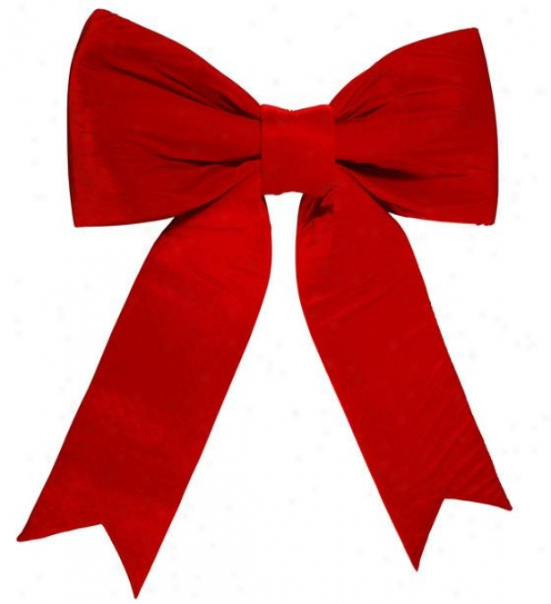 """red Felt Bow - 72"""", Red"""
