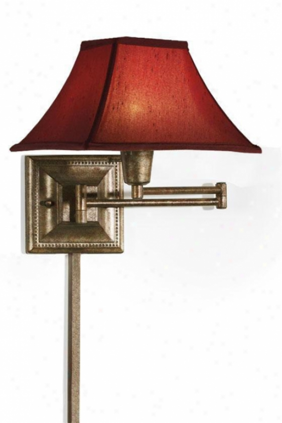 Red Kingston Swing-arm Pin-up Lamp - Red, Gold