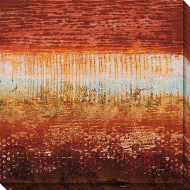 Red Strata I Canvas Wall Art - I, Red