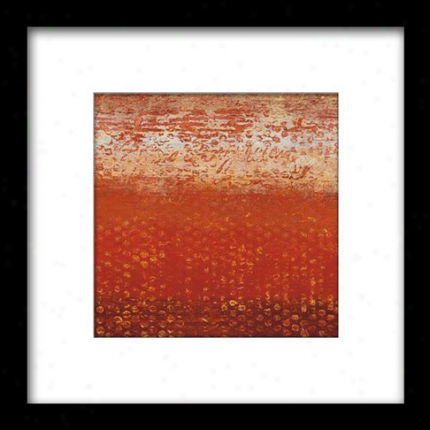 Red Strata Ii Framed Wall Art - Ii, Mattd Blk 27x27