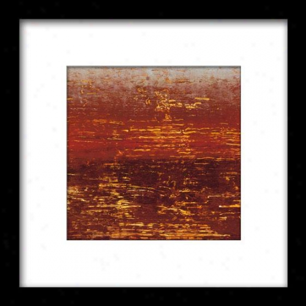 Red Layers Iii Framed Wall Creation of beauty - Iii, Mattd Blk 27x27