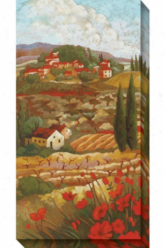 Red Tuscan I Canvas Wall Art - I, Red