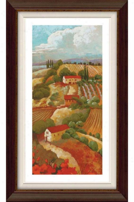 Red Tuscan Ii Framed Wall Art - Ii, Flt Anq Wln/gld