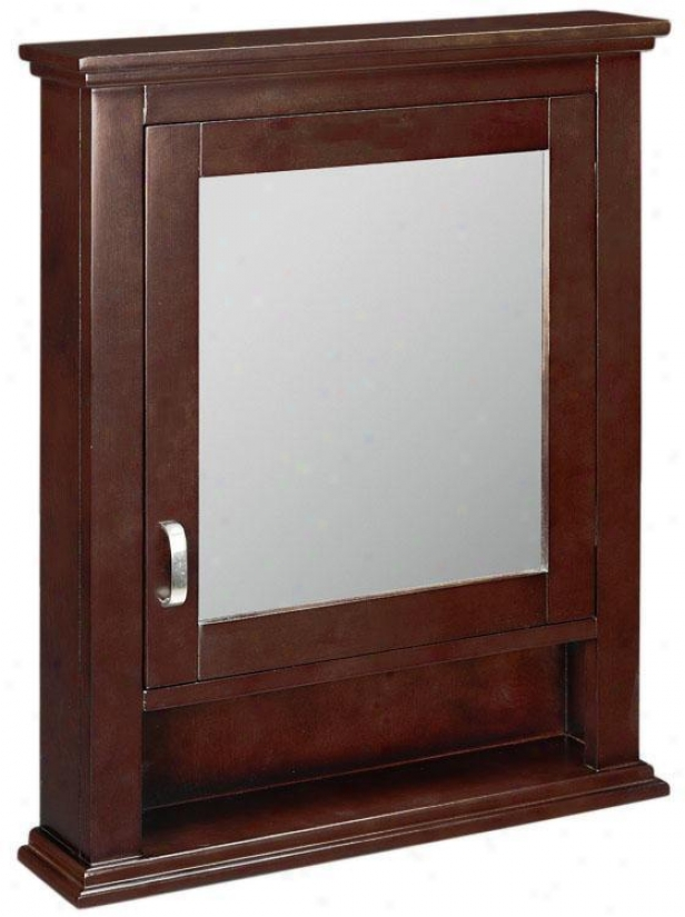 """reed Mirrored Wall Closet - 28""""hx22""""w, Crimson Red"""