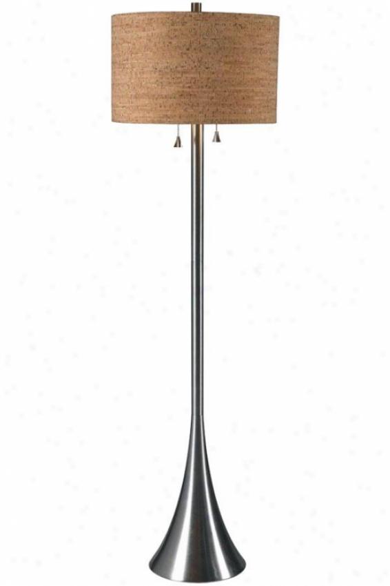 """""""reeds Floor Lamp - 58""""""""hx16""""""""d, Grey Steel"""""""