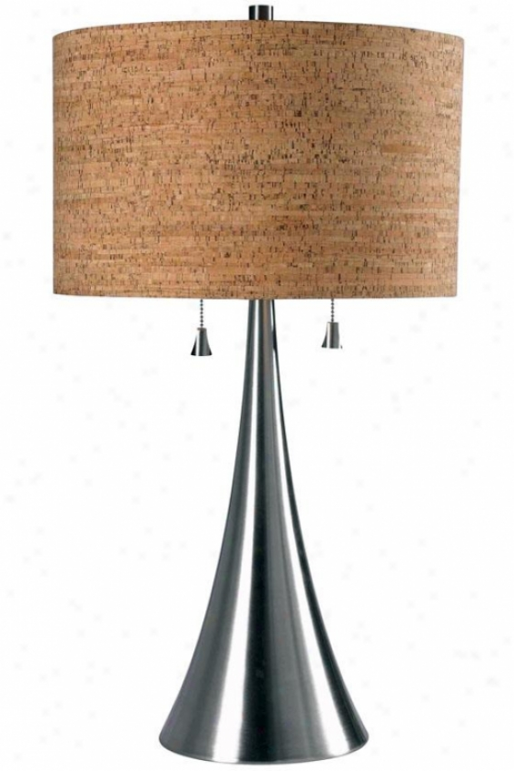 """reeds Stand  Lamp - 29""""hx16""""d, Grey Steel"""