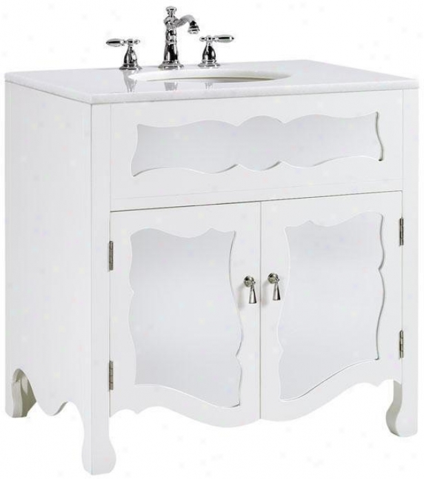 """reflections 32""""h Mia Bathroom Vanity - 33.25""""h32""""w, White"""