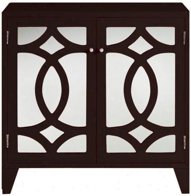 """reflections 34""""h Lyre Cabinet - Cabinet, Coffee Brown"""