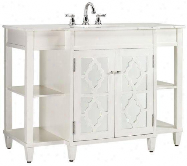 """reflections 48""""w Bathroom Vanity - 35""""hx48""""w, White"""