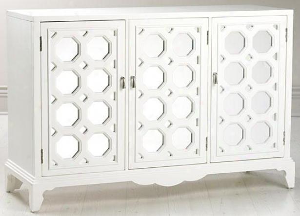 """reflections Addie Large Cabinet - 43.25""""hx50.5""""w, White"""