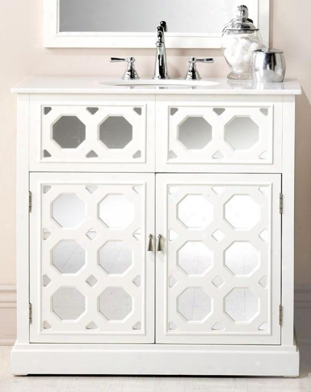 """reflections Addie Vanity - 36""""wx36""""w, White"""