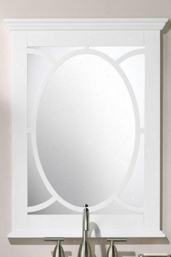 """reflections Barry Pattern - 34""""hx24""""w, Pure White"""