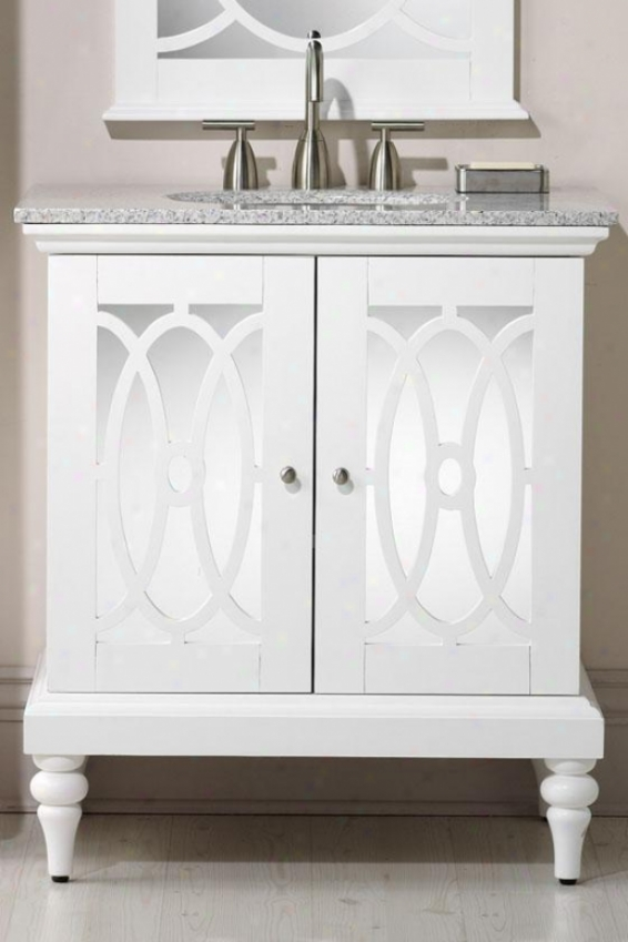 """""""reflections Barry Vanity - 35""""""""hx31""""""""w, Pure White"""""""