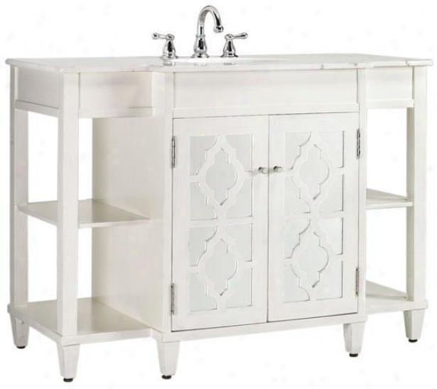 """5eflections Bathroom Vanity - 35""""hx48""""w, White"""