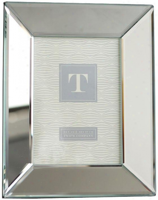 """reflections  Beveled Mirror Photo Frame - 9.5""""hx7.5""""w, Silver"""