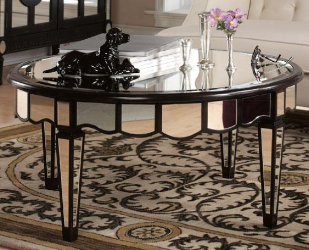 """reflections Rule Coffee Table - 20""""hx42""""w, Black"""