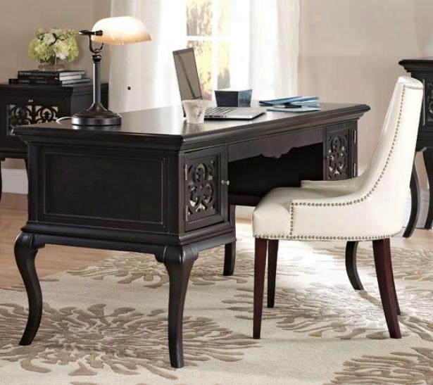 """reflections Lescott Desk - 30""""hx60""""w, Coffee Brown"""