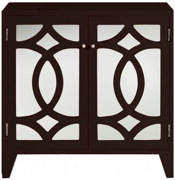 Reflections Lyre Cabinet - Cabinet Only, Coffee Brown