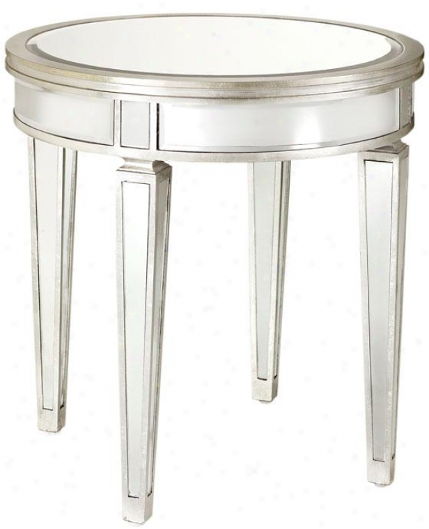 Reflections Mirrored Accent Table - Accent, Mirror