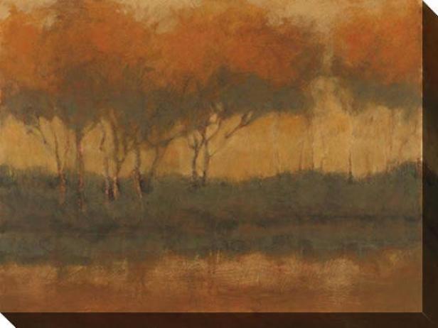 Reflections Of Gold Ii Canvas Wall Art - Ii, Tan